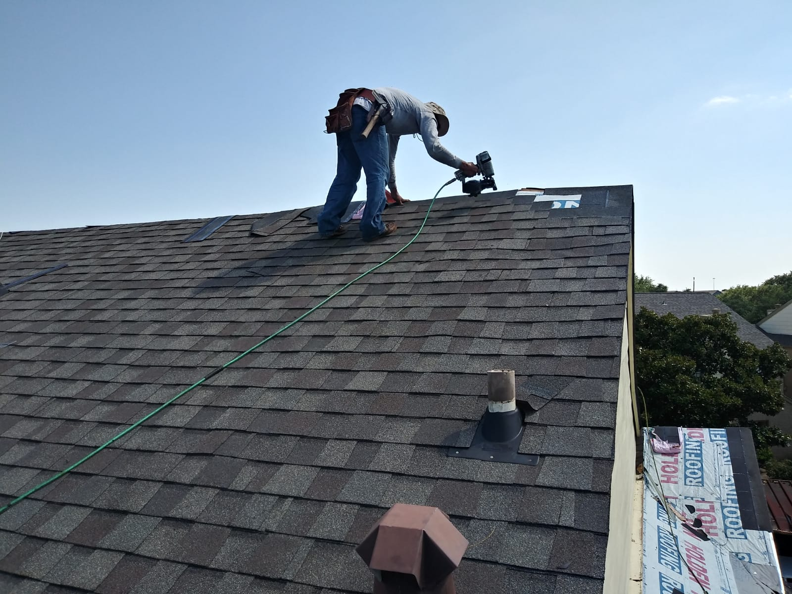 Roofing installation for an apartment complex in Houston